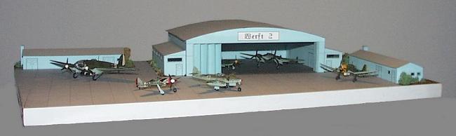 Aircraft Hangar Papercraft